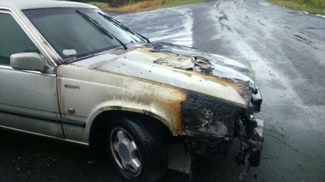 Pow. wodzisławski: Samochód stanął w płomieniach. Doszło do samozapłonu