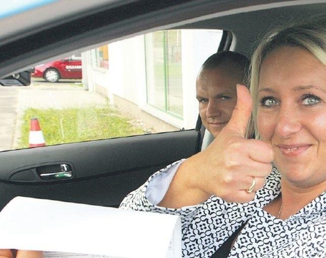 Wczorajszy dzień był dla Beaty Zarzecznej ze Świnoujścia bardzo szczęśliwy. Udało jej się zdać egzamin na prawo jazdy.