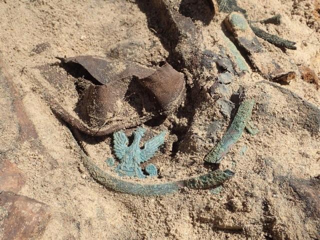 Nieopodal Pszczewa archeolodzy ze Stowarzyszenie Pomost odnaleźli szczątki dwóch żołnierzy - Polaka i Niemca