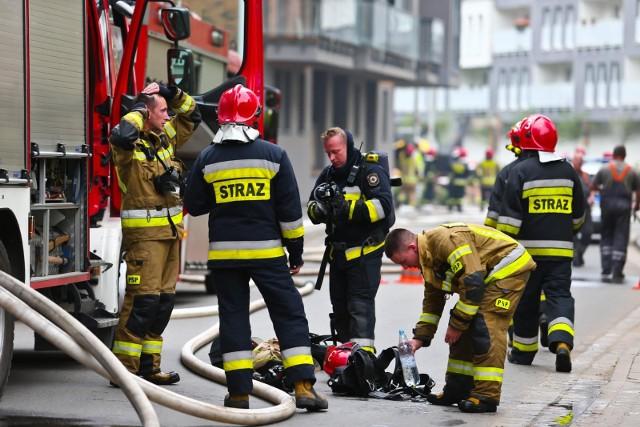 Wrocławscy strażacy w akcji. Zdjęcie ilustracyjne.