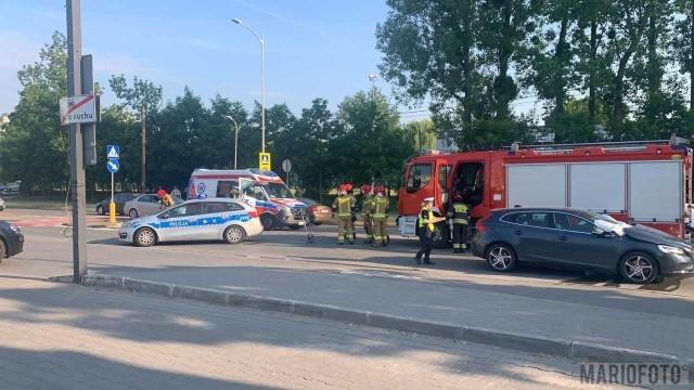 Wypadek na ul. Niemodlińskiej w Opolu.