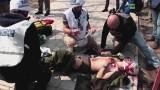 Rosyjski dziennikarz wszedł na minę pułapkę pod Mariupolem (drastyczne wideo)