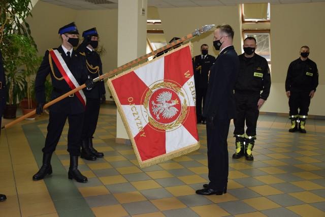 Powołanie na stanowisko zastępcy komendanta st. kpt. Dawida Tarkowskiego, który dotychczas pełnił służbę na stanowisku dowódcy zmiany w KP PSP w Golubiu-Dobrzyniu