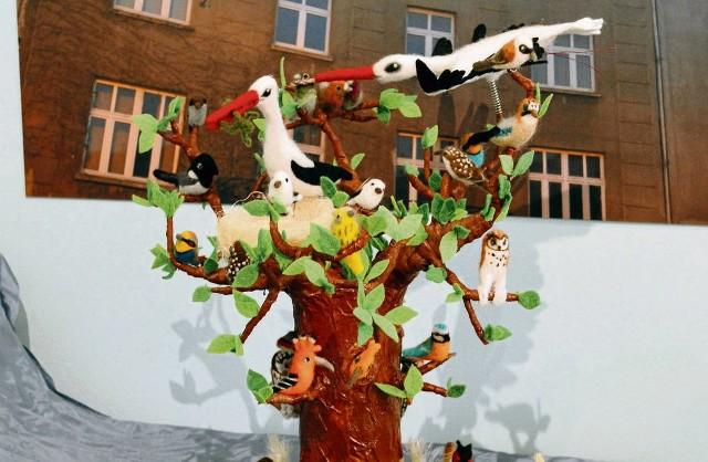 Jedno z trzech zwycięskich drzewek autorstwa Doroty Bury