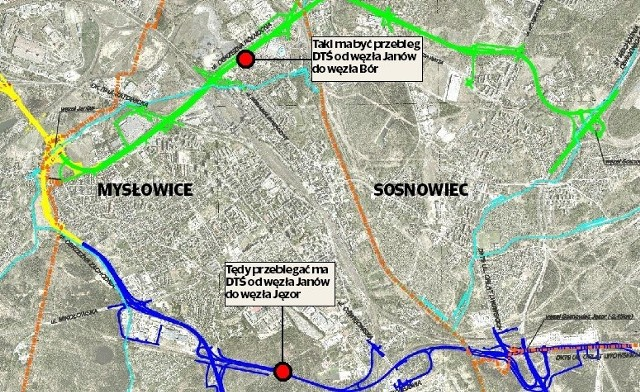 Sosnowiec, Jaworzno i Mysłowice cały czas przygotowują się do budowy wschodniego odcinka Drogowej Trasy Średnicowej. Tak naprawdę będą to dwa odrębne odcinki: do Jaworzna i do Sosnowca