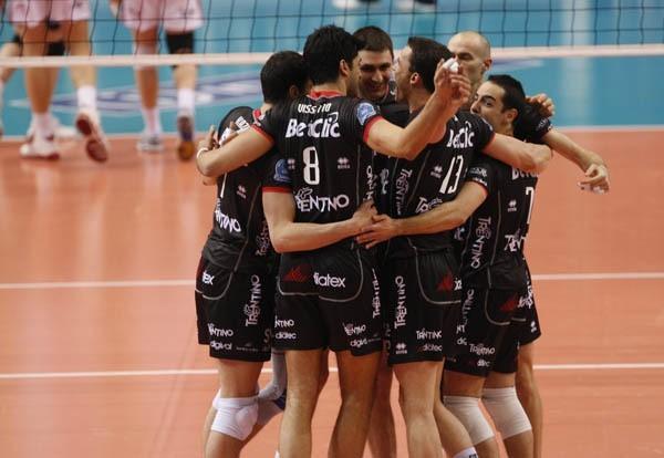 Asseco Resovia - Trentino Volley Asseco Resovia Rzeszów odpadla z Ligi Mistrzów przegrywając u siebie z Trentino Volley 1:3.