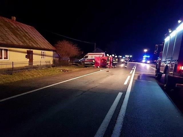 Wypadek w Nowej Wsi pod Łabową