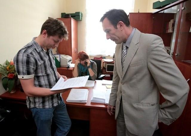 Na zdjęciu Piotr Piosicki z Bezrzecza, który w czwartek w rejestrował swój komitet.
