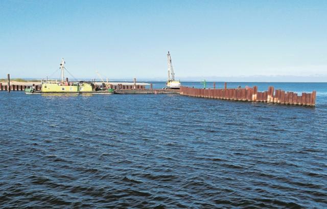 Dobiega końca budowa głowicy kierownicy zachodniej ujścia Przekopu Wisły do morza