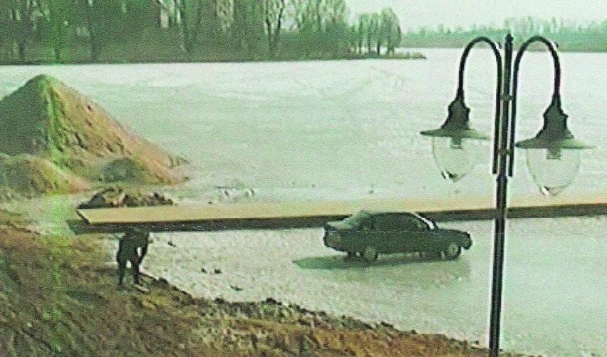 Nagranie z monitoringu pozwoliło ustalić kierowcę parkującego na zamarzniętym jeziorze