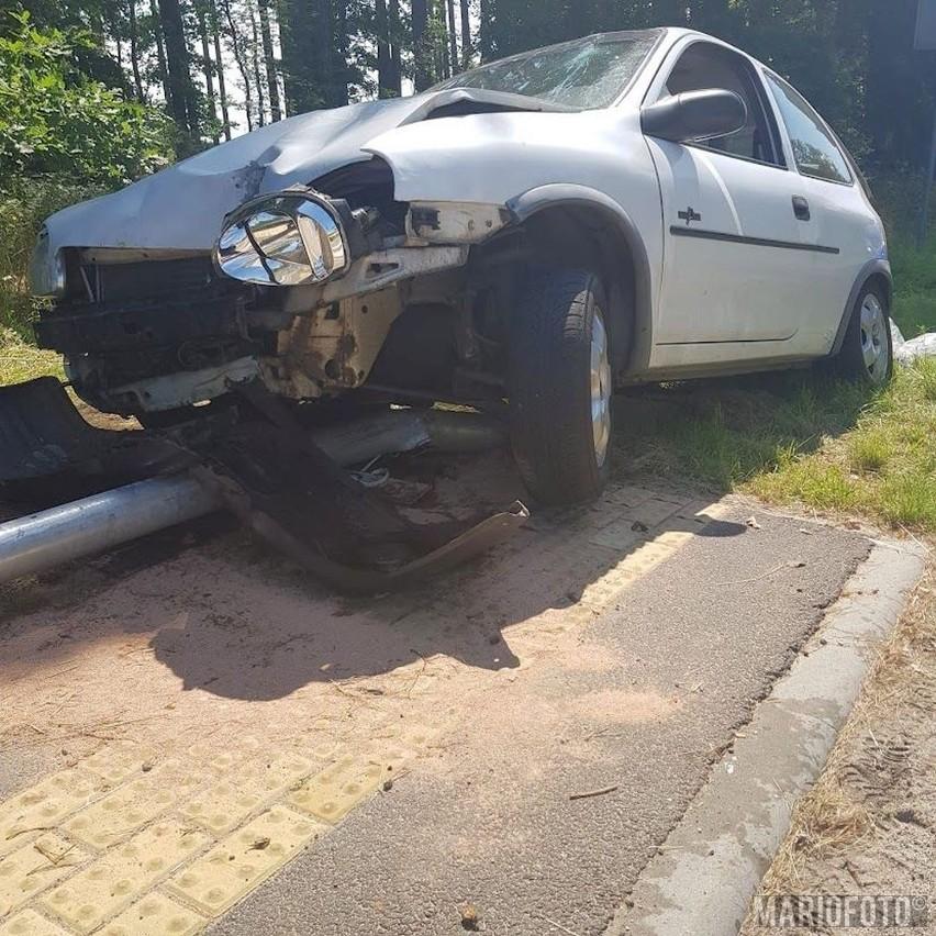 Wypadek w Brynicy.