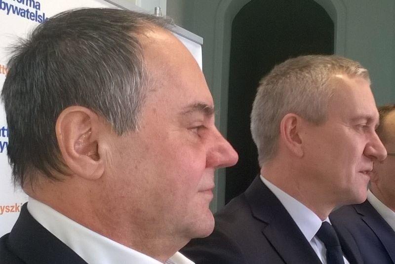 Andrzej Meyer (z lewej) to jeden z najbliższych współpracowników szefa białostockich i podlaskich struktur PO Roberta Tyszkiewcz. Odpowiadał za negocjacje z PSL umowy koalicyjnej w sejmiku.