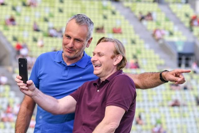 Kibice reprezentacji Polski na treningu na stadionie w Gdańsku