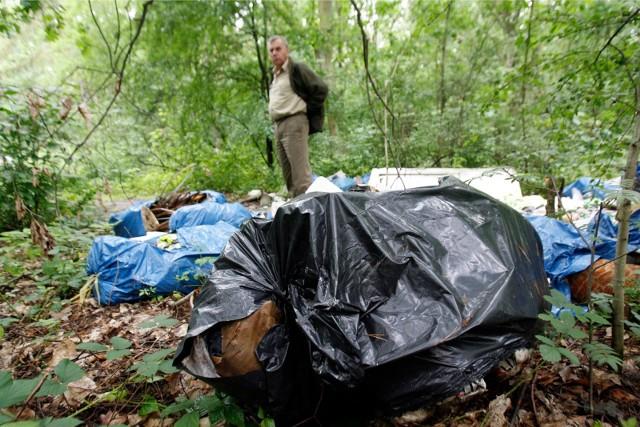 Dzikie wysypiska wciąż są plagą lasów w pobliżu Torunia
