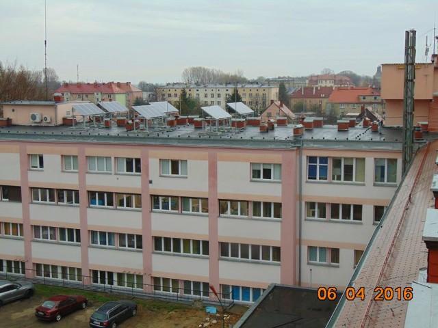Szpital powiatowy przy ul. Marii Skłodowskiej-Curie 26 w Głubczycach.