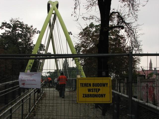 Kładka Słodowa z powodu remontu będzie zamknięta do końca października