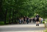 Długi weekend - na ulicach pusto, ale w parkach i na Piotrkowskiej tłumy