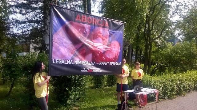 Pikieta przeciw aborcji w Ustroniu