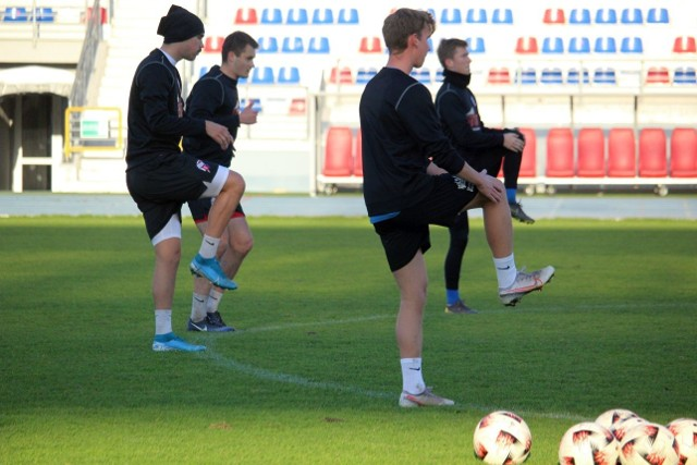 Piłkarze Broni trenowali przed meczem z Unią