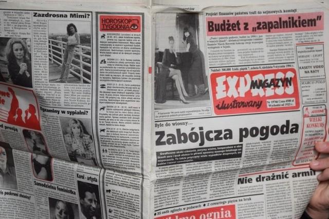 """Sięgnęliśmy do wydania """"Expressu Ilustrowanego"""" sprzed dokładnie...25 lat. Zobaczcie, co się działo w Łodzi i na świecie w styczniu 1994 roku."""