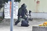 Alarm bombowy na placu Dominikańskim we Wrocławiu