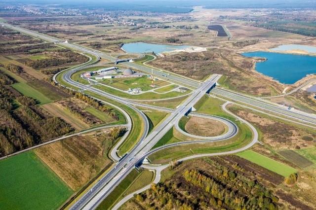 Autostrada A4, węzeł Rzeszów Zachód.