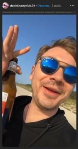 Młody Martyniuk bawił się nad polskim morzem. Syn Zenka po kilku głębszych nagrał swoje wyczyny na filmie 28.07.2021