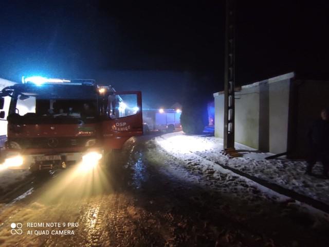 Pożar w Chróścielowie koło Głubczyc.