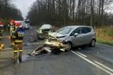 Wypadek w Śmiłowie koło Piły. Cztery osoby zostały ranne w zderzeniu dwóch samochodów