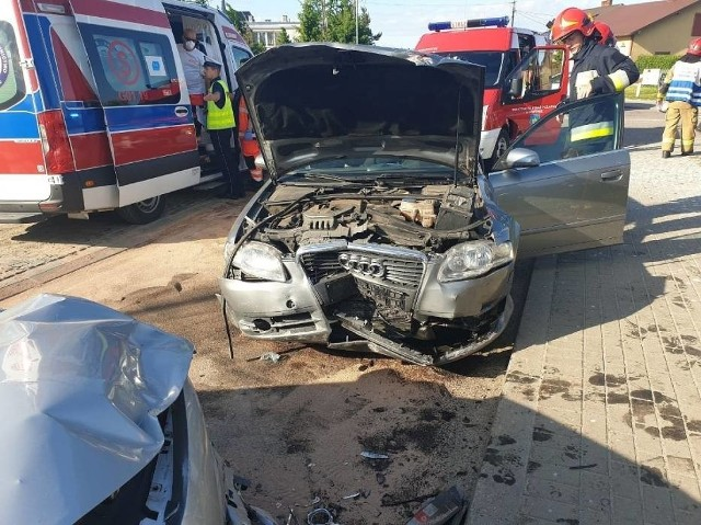 Wypadek w Egiertowie. 14.06.2020 r.