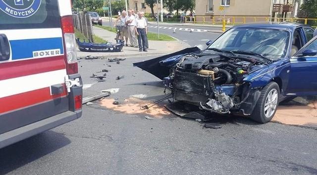 Do tego zdarzenia doszło 16 lipca na skrzyżowaniu ul.Grunwaldzkiej (DK57) z ul. Zarębską