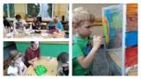 """""""Jesienne spotkania"""" w Szkole Podstawowej nr 13 w Grudziądzu. Dzieci spotkały się z seniorami i policjantem [zdjęcia]"""