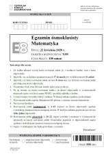 Egzamin ósmoklasisty 2020 MATEMATYKA. ODPOWIEDZI I ARKUSZE CKE. Test 8-klasisty z matematyki 16.06.2020. Klucz odpowiedzi, rozwiązania