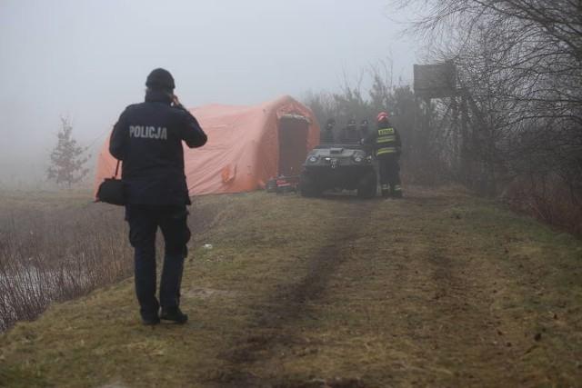Miejsce katastrofy helikoptera, w którym zginął 54-letni pilot z Krakowa