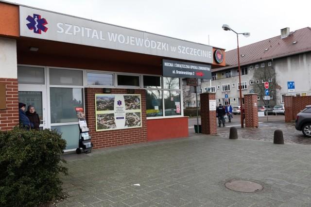 Szpital przy ul. Arkońsakiej w Szczecinie.