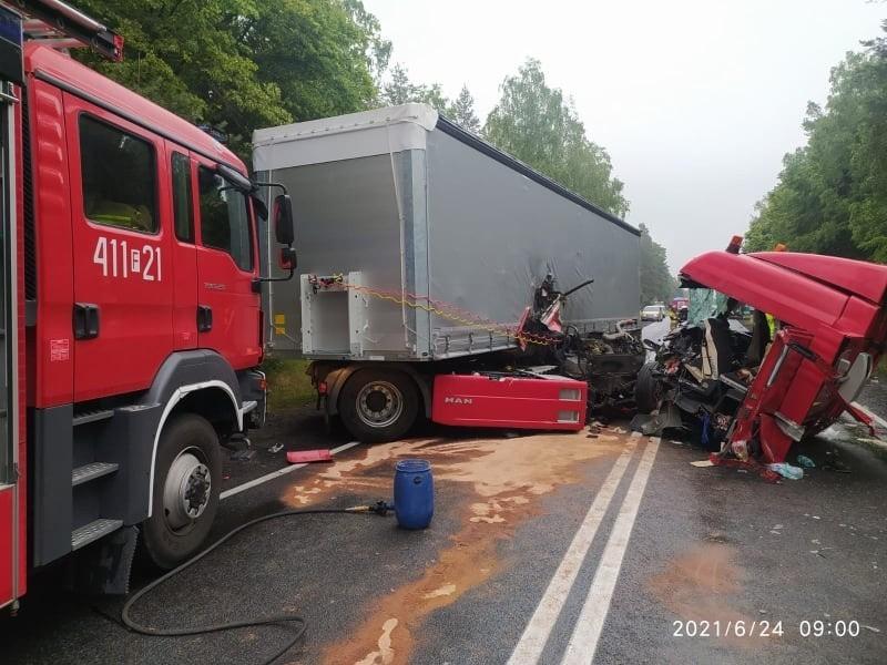 Dramatyczny wypadek pod Krzeszycami. W miejscowości Rogi...