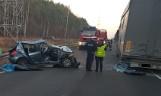 Śmiertelny wypadek na drodze Bełchatów - Kamieńsk [ZDJĘCIA]