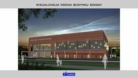 Nocna wizualizacja nowej Szkoły Muzycznej w Kielcach.