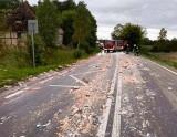 Śmierdząca kolizja. Cuchnące odpadki ryb na drodze 211 (ZDJĘCIA)