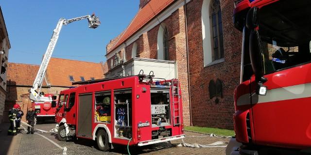 Ćwiczenia strażackie w Bazylice w Grudziądzu.
