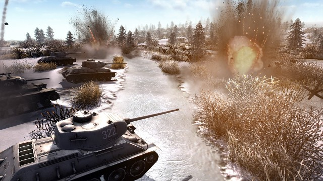 Men of War: Assault Squad 2W Men of War: Assault Squad 2 na pewno nie zabraknie okazji do użycia czołgów.