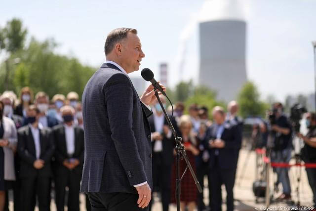 Prezydent Andrzej Duda obwieścił budowę mostu podczas spotkania w Wilczkowicach Górnych.