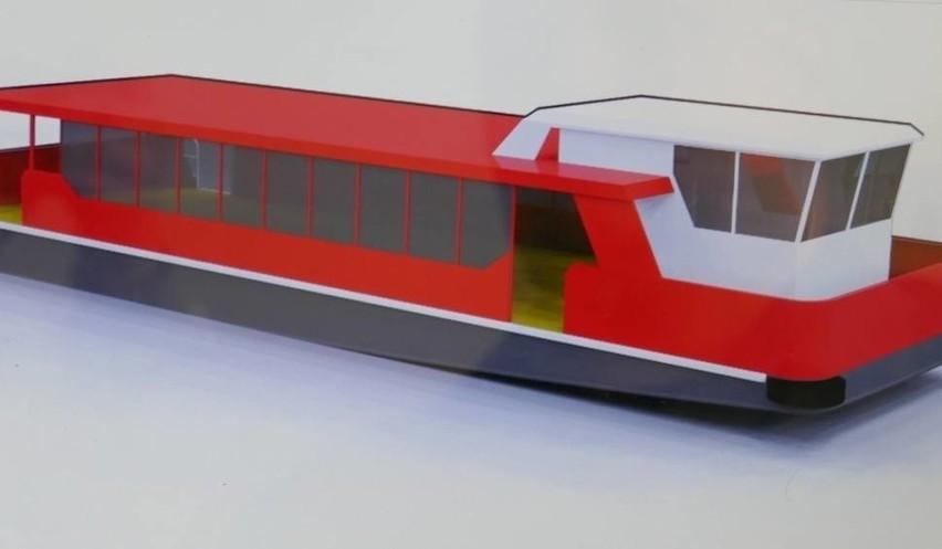 Tramwaje wodne ze stoczni Damen w Koźlu trafią do AfrykiTak mają wyglądać tramwaje wodne, które pomieszczą do 130 pasażerów.
