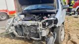 Wypadek w Skwierzynie. Na ul. Międzyrzeckiej zderzyły się dwa samochody. Jedna osoba poszkodowana. Kto zawinił?