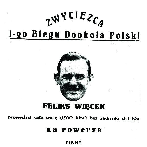 Feliks Więcek zwyciężył w Tour de Pologne jadąc na rowerze firmy Wahren