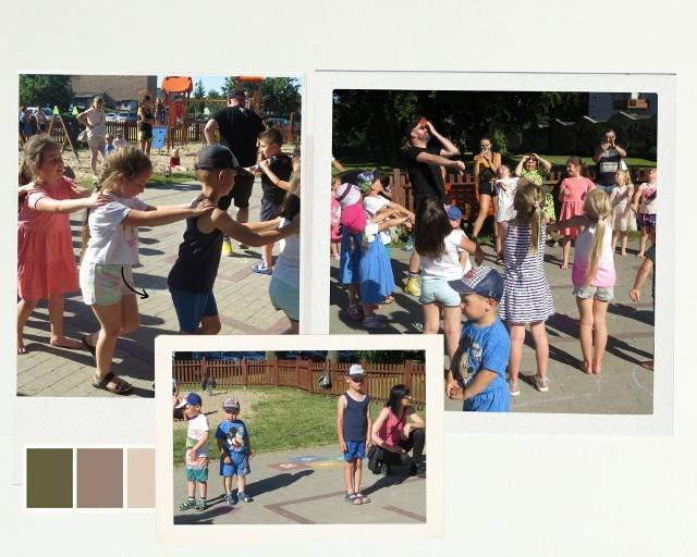 Dzieci z Brodnicy tańczyły w parku za Brodnickim Domem Kultury z instruktorem tańca Maciejem Zajdą