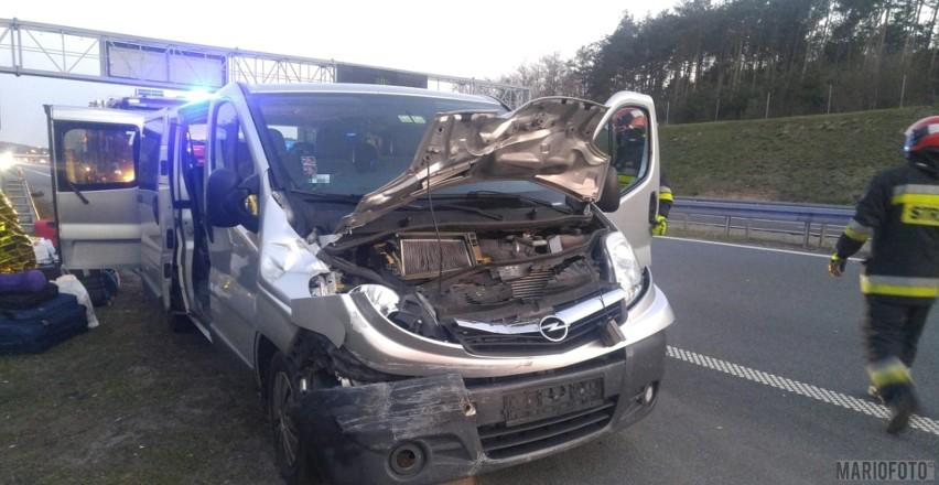 Do wypadku doszło na A4 w stronę Katowic na wysokości Krapkowic.