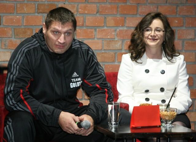 Andrzej Gołota i jego żona Mariola