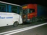 DK 61: Stawiane - Łubiane. Wypadek, zderzenie czterech samochodów (zdjęcia)