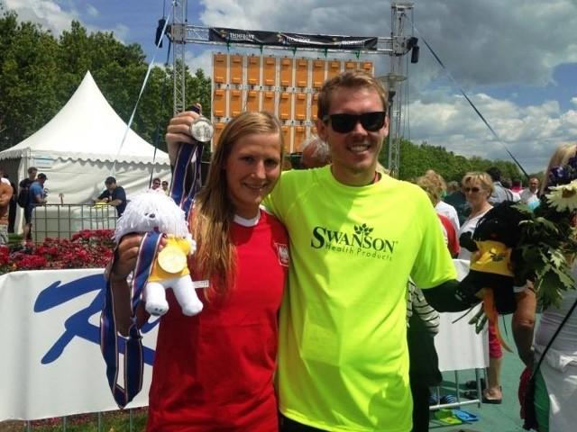 Natalia Charłos i Mateusz Sawrymowicz po udanym dla nich występie w wodach jeziora Balaton.